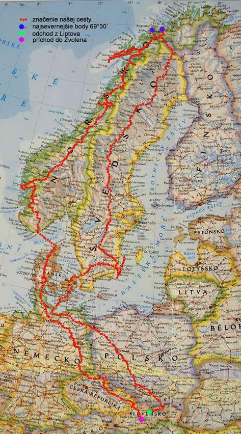 Norsko mapa