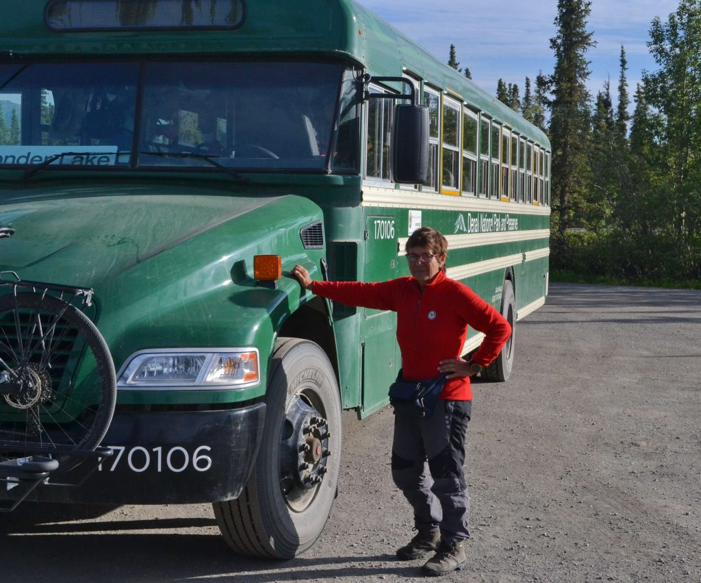 Autobus Národného parku Denali.