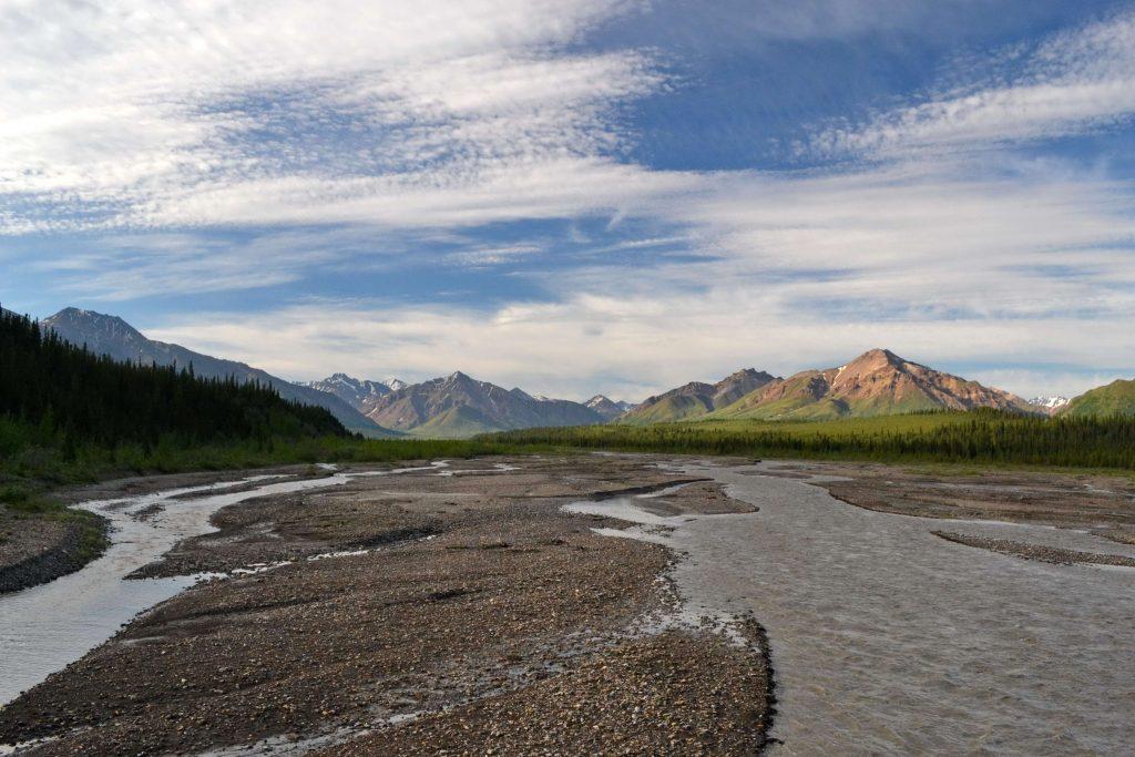 Rieka Teklanika Aljaška