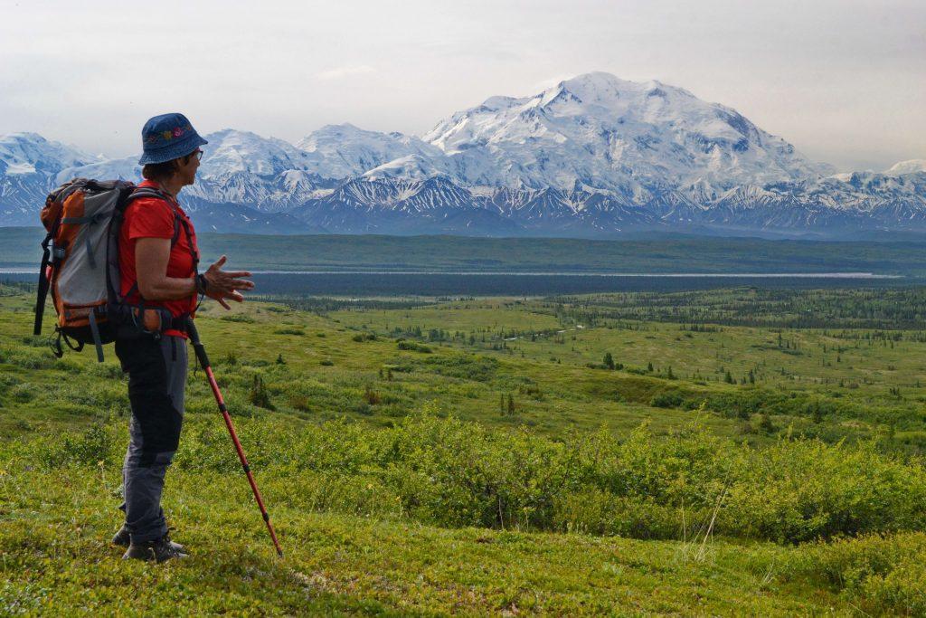 Pod úpätím Denali sa stretáva tundra s tajgou. Vrch je od nás stále vzdialený 36 km. Z tejto strany k nemu nevedie žiadna cesta