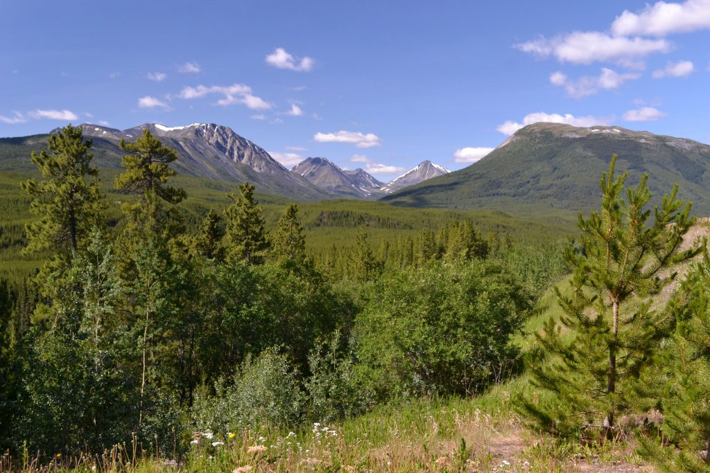 Teritótium Yukon na hranici s Britskou Kolumbiou